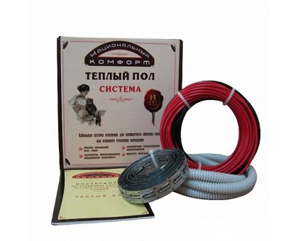Нагревательный кабель Национальный комфорт 1,7-2,0 м2, 300Вт